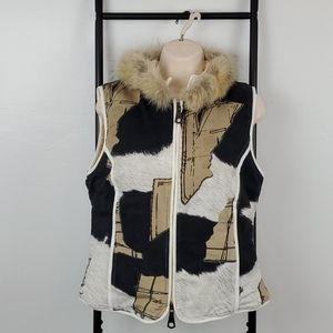 Elisa Cavaletti vest fur zipper lining size S